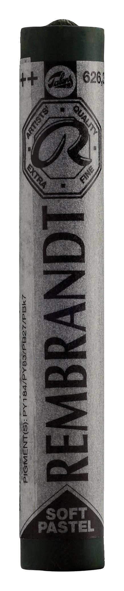 Rembrandt Soft Pastel Round Full Stick Cinnabar Green Light(3) (626.3)