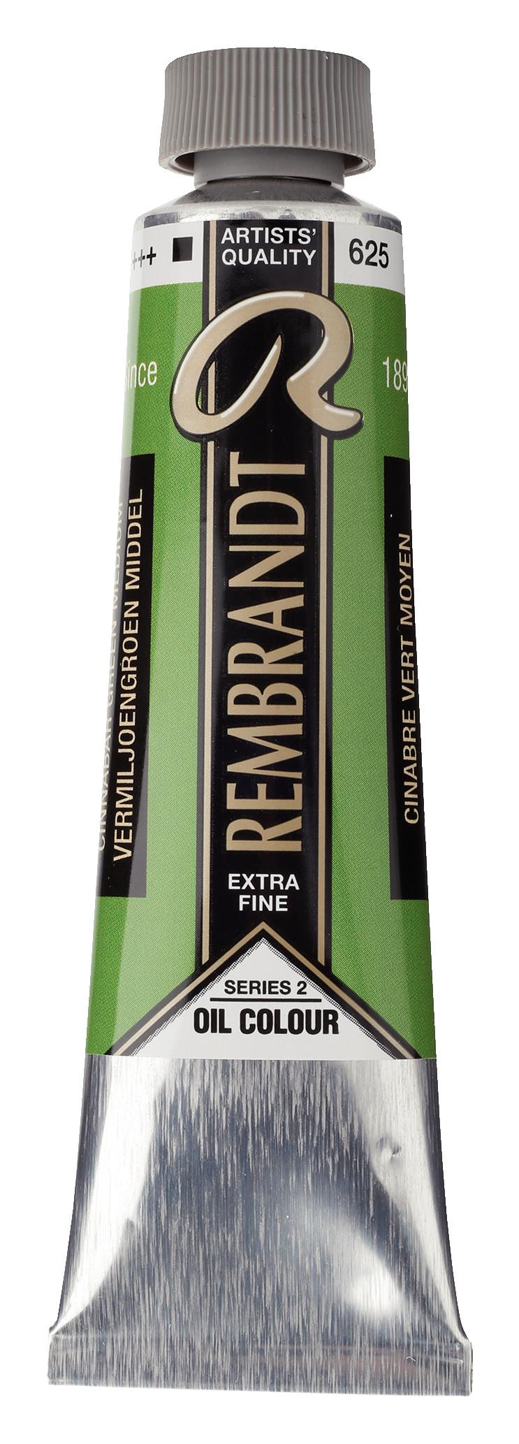 Rembrandt Oil colour Paint Cinnabar Green Medium (625) 40ml Tube