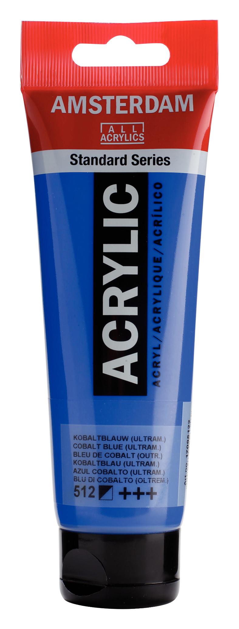 Amsterdam Standard Series Acrylic Tube 120 ml Cobalt blue (ultramine) 512