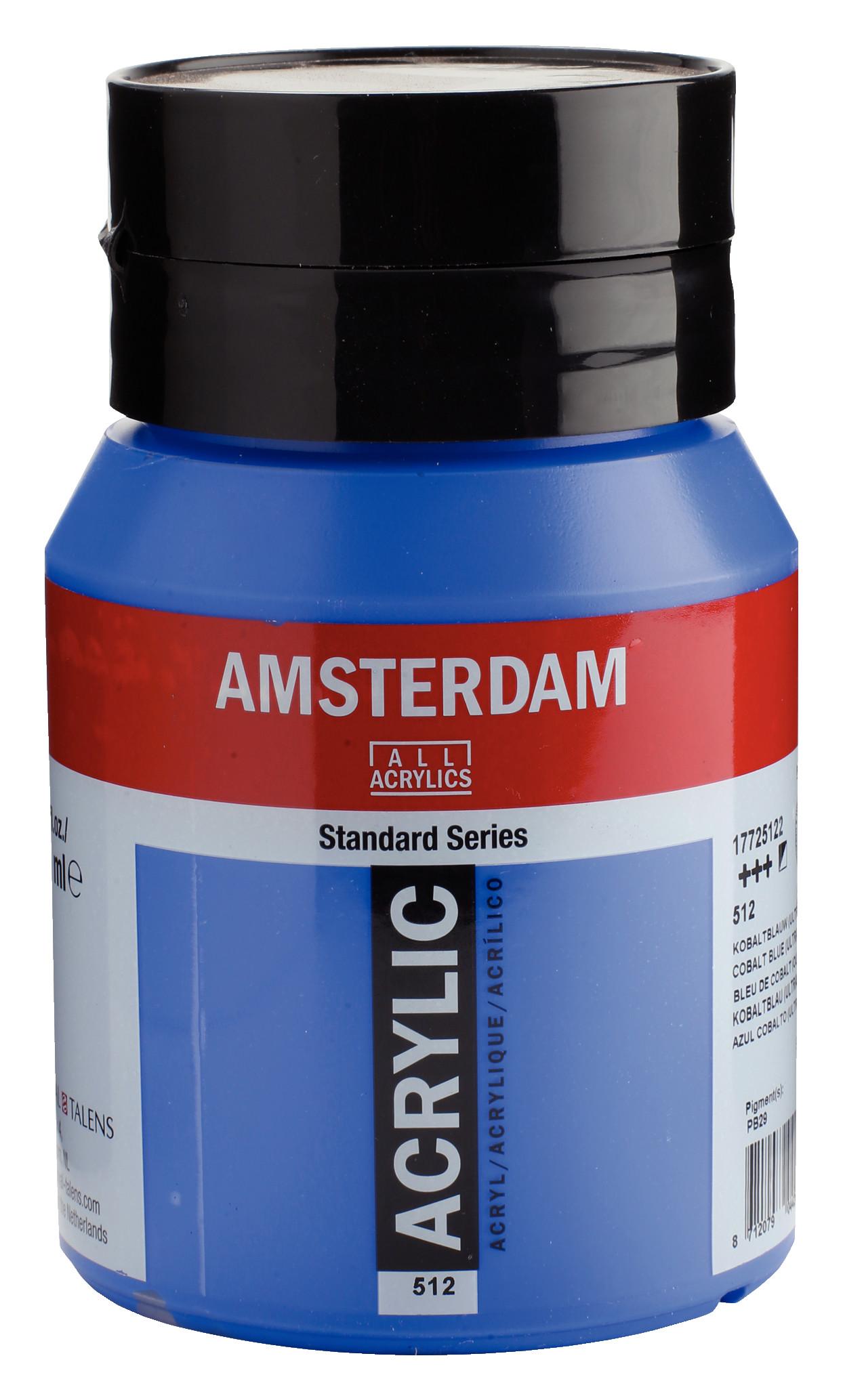 Amsterdam Standard Series Acrylic Jar 500 ml Cobalt blue (ultramine) 512