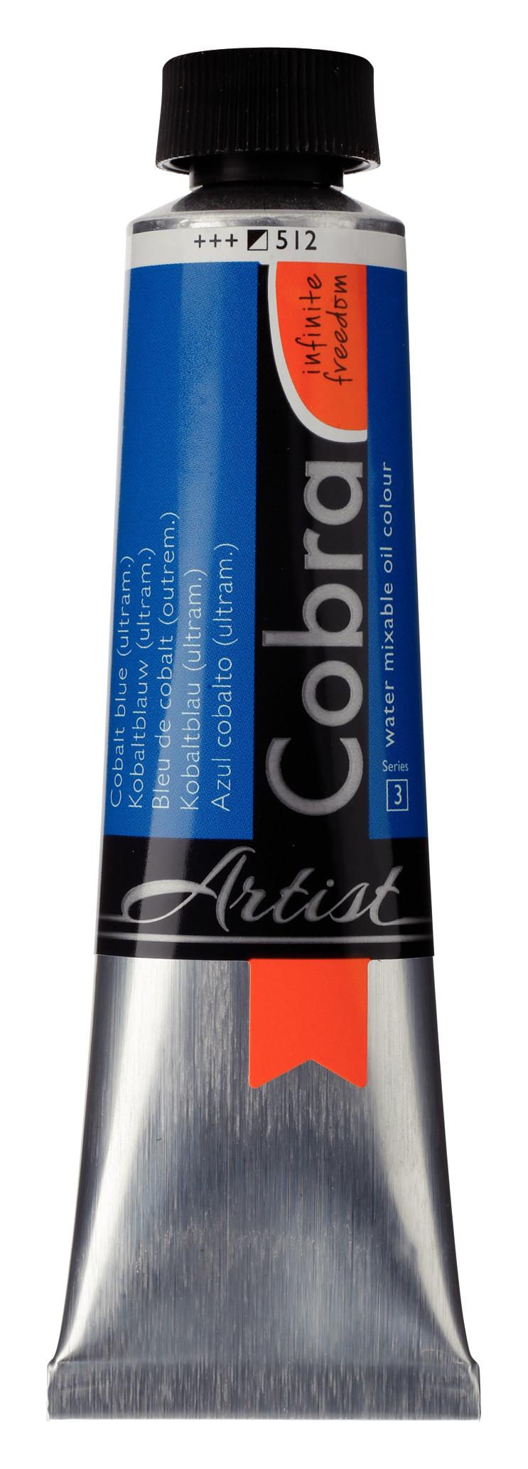 Cobra Artist Water Mixable Oil Colour Tube 40 ml Cobalt blue (ultramine) 512