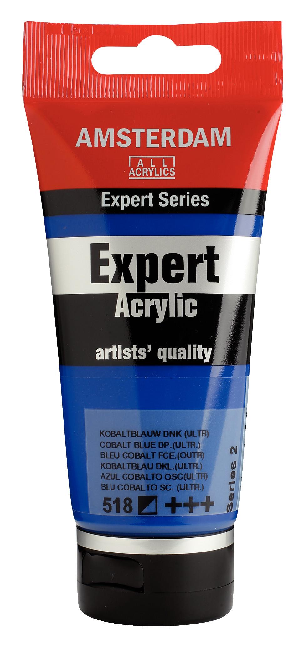 Amsterdam Expert Series Acrylic Tube 75 ml Cobalt Blue Deep (Ultramine) 518
