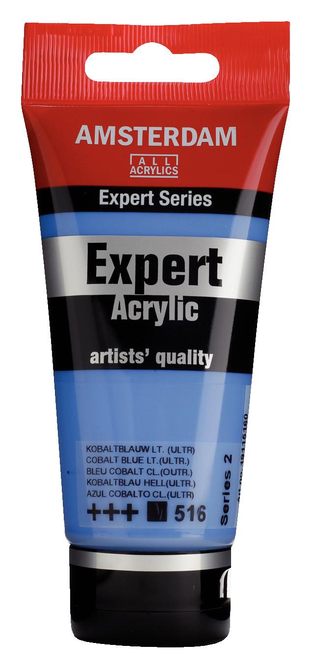 Amsterdam Expert Series Acrylic Tube 75 ml Cobalt Blue Light (Ultramine) 516
