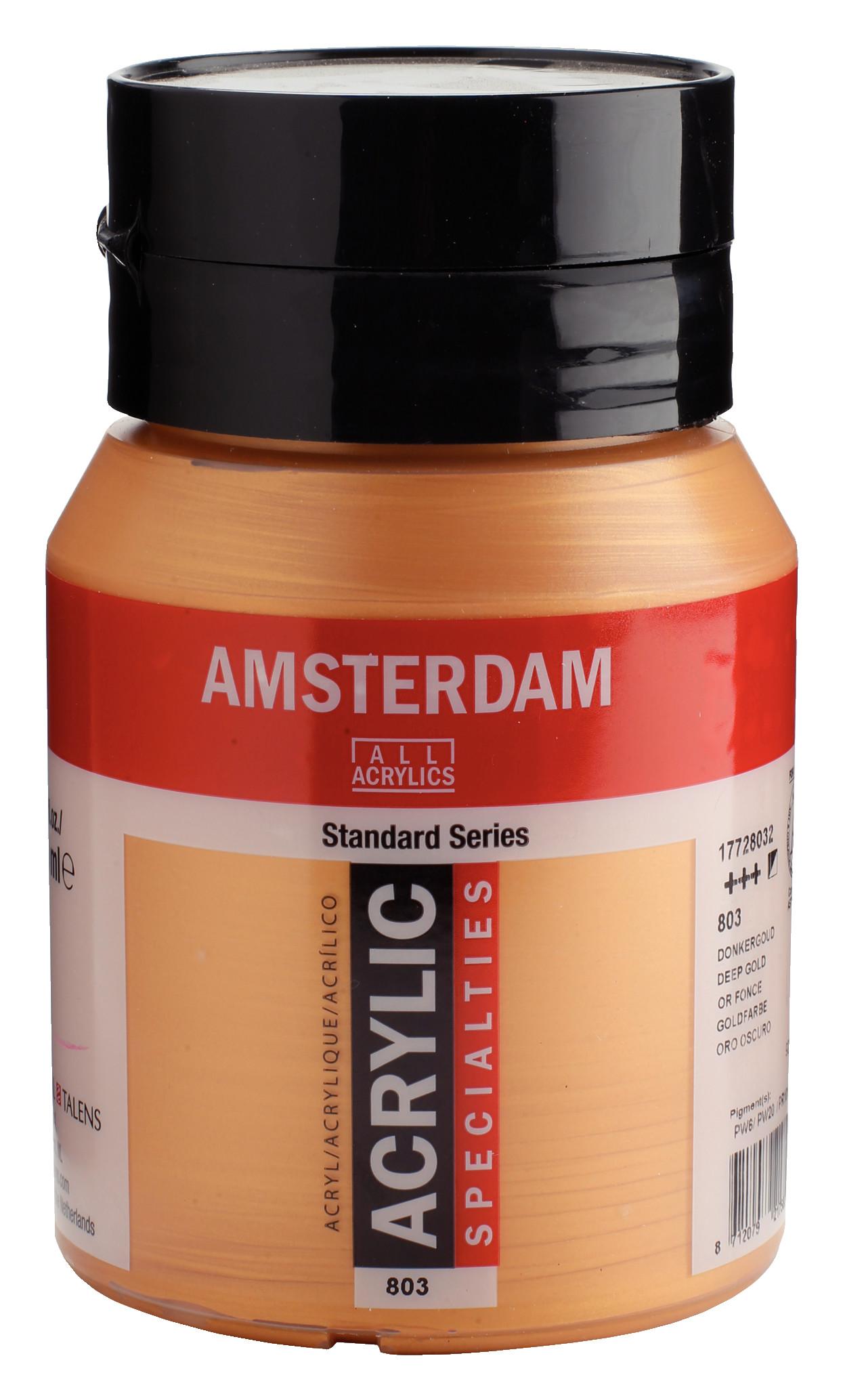 Amsterdam Standard Series Acrylic Jar 500 ml Deep Gold 803
