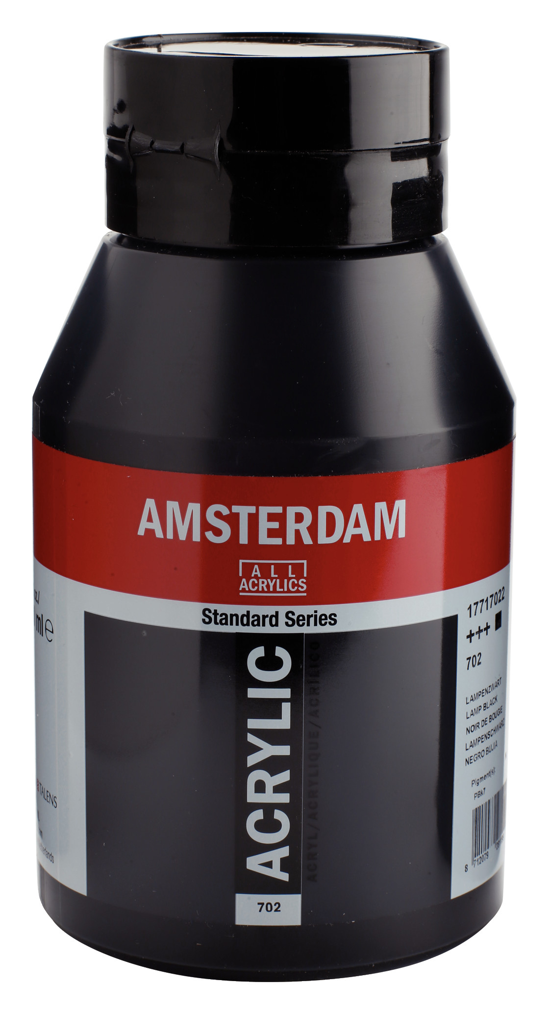 Amsterdam Standard Series Acrylic Jar 1000 ml Lamp black 702