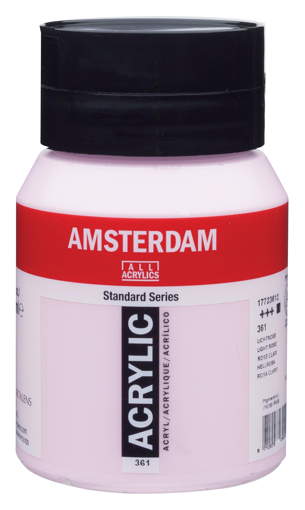Amsterdam Standard Series Acrylic Jar 500 ml Light rose 361