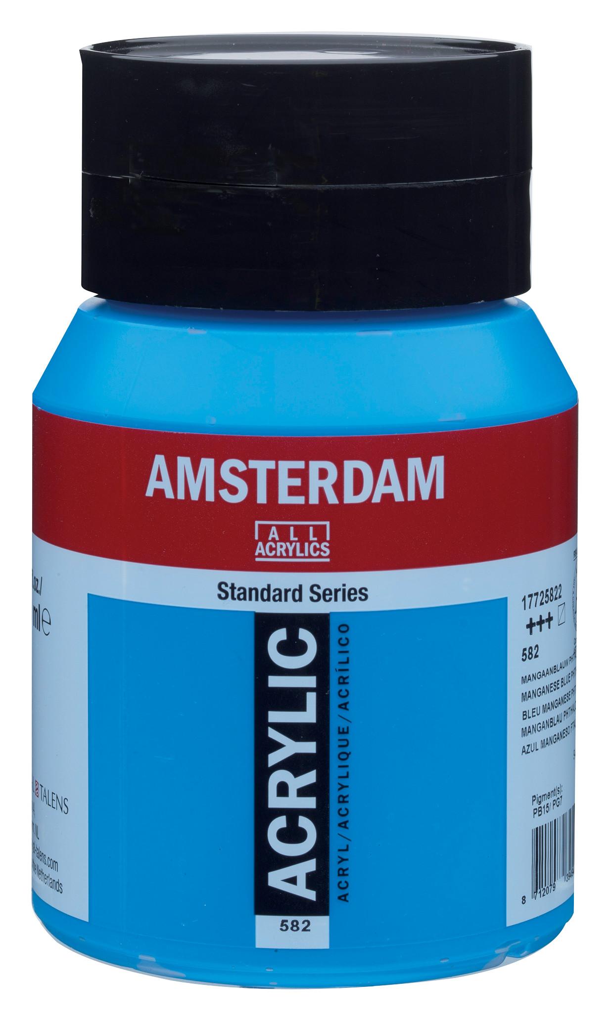 Amsterdam Standard Series Acrylic Jar 500 ml Manganese blue phthalo  582