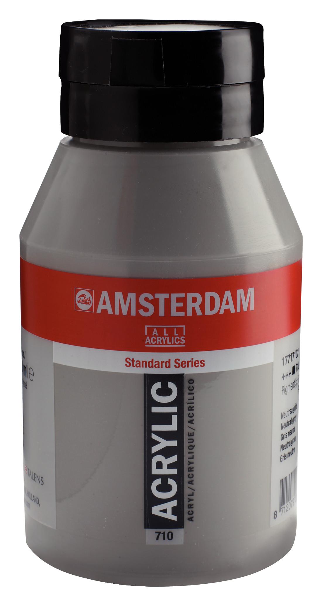 Amsterdam Standard Series Acrylic Jar 1000 ml Neutral grey 710