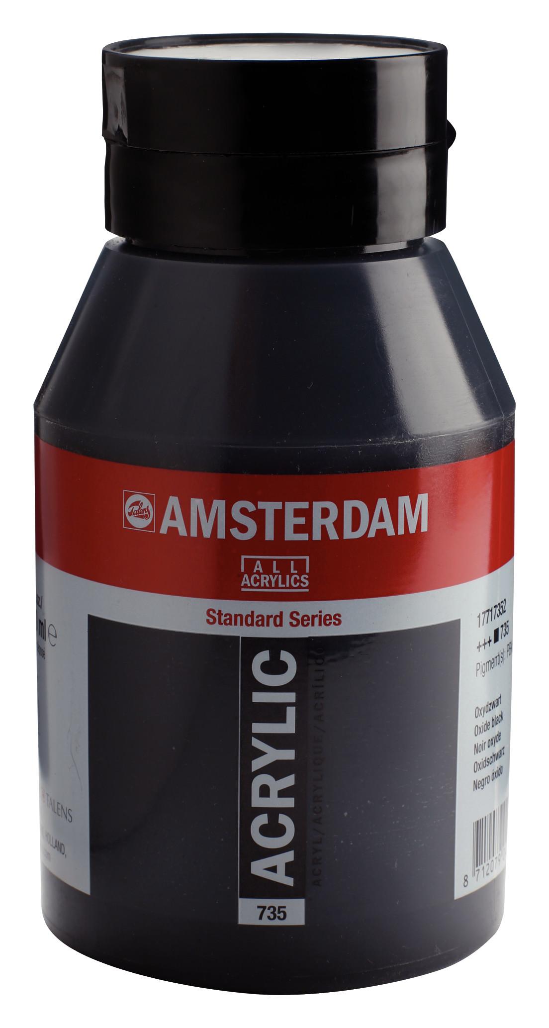 Amsterdam Standard Series Acrylic Jar 1000 ml Oxide black 735