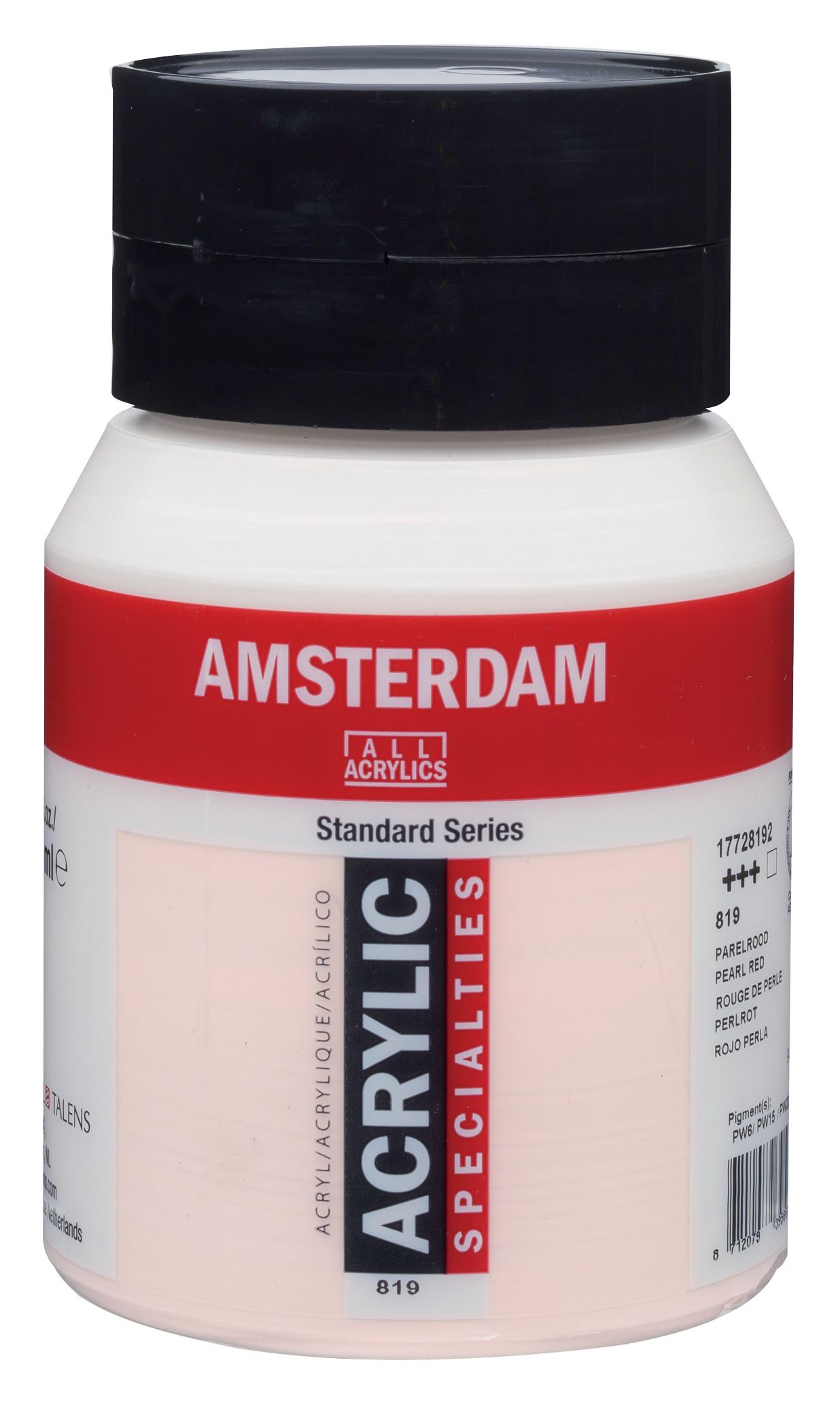 Amsterdam Standard Series Acrylic Jar 500 ml Pearl red 819