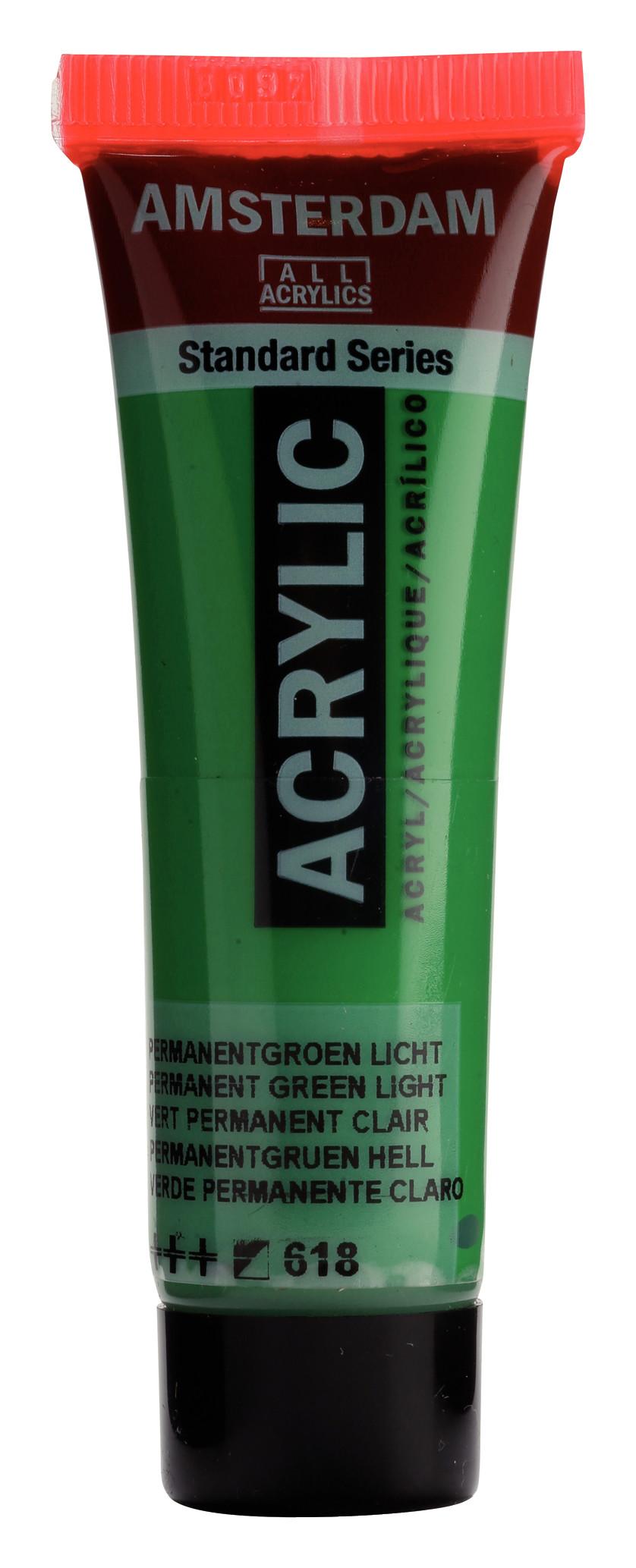 Amsterdam Standard Series Acrylic Tube 20 ml Permanent green light 618