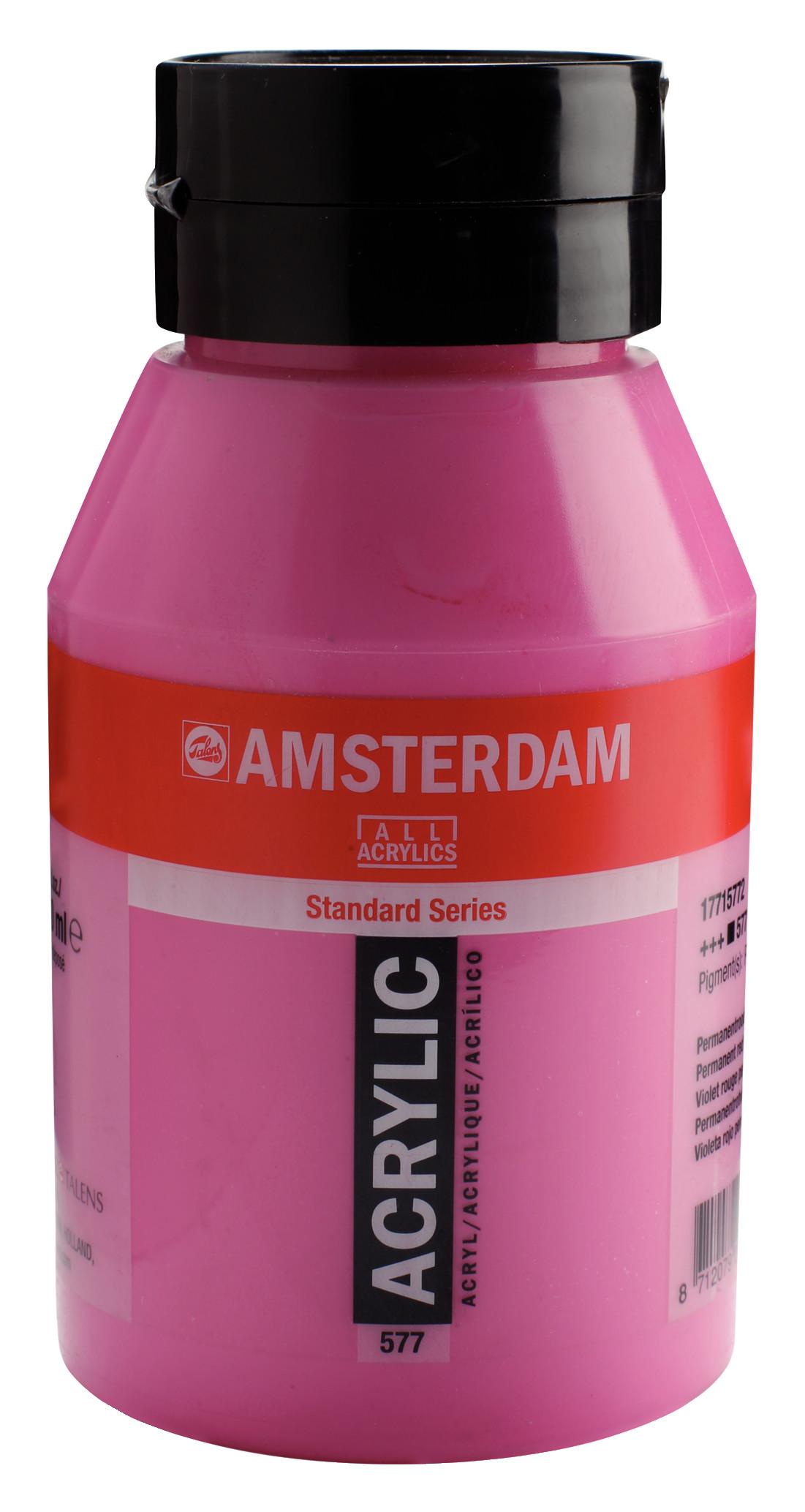 Amsterdam Standard Series Acrylic Jar 1000 ml Permanent red violet light 577