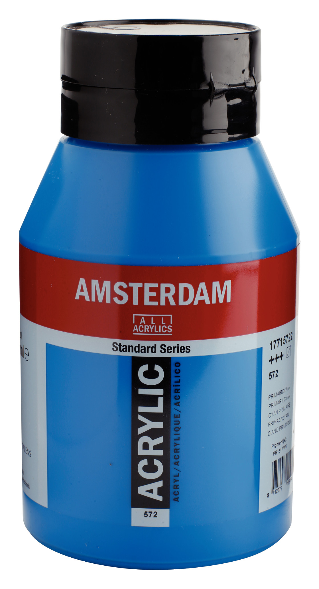 Amsterdam Standard Series Acrylic Jar 1000 ml Primary cyan 572