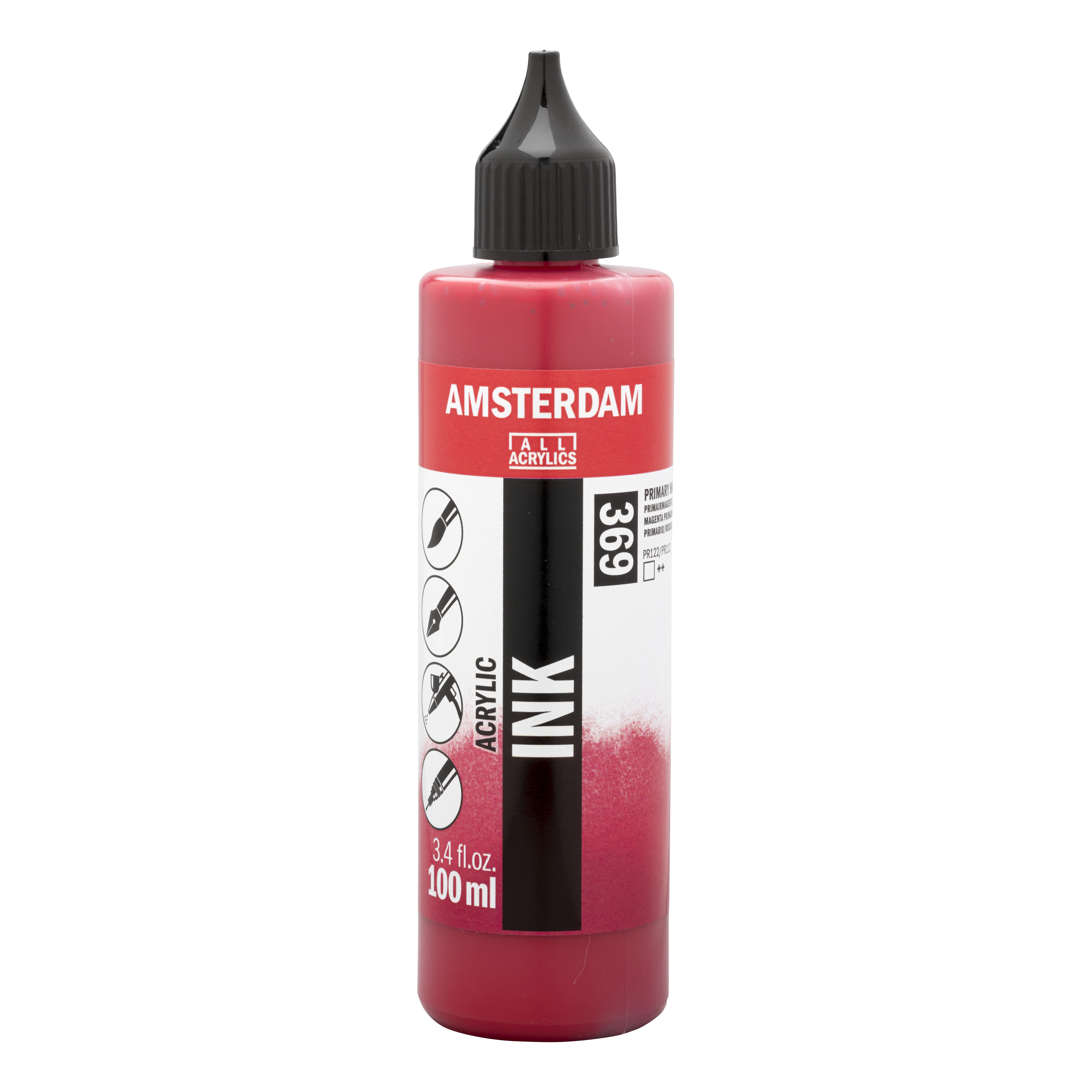 Amsterdam Acrylic Ink Bottle 100 ml Primary Magenta 369