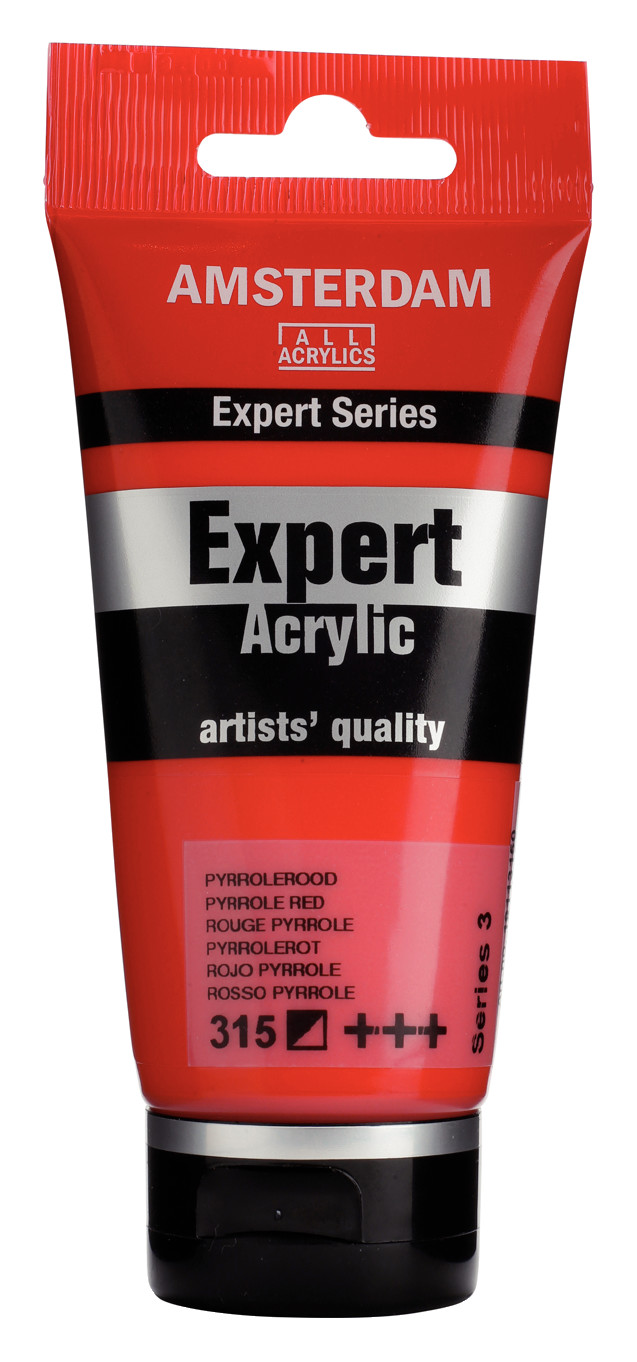 Amsterdam Expert Series Acrylic Tube 75 ml Pyrrole Red 315