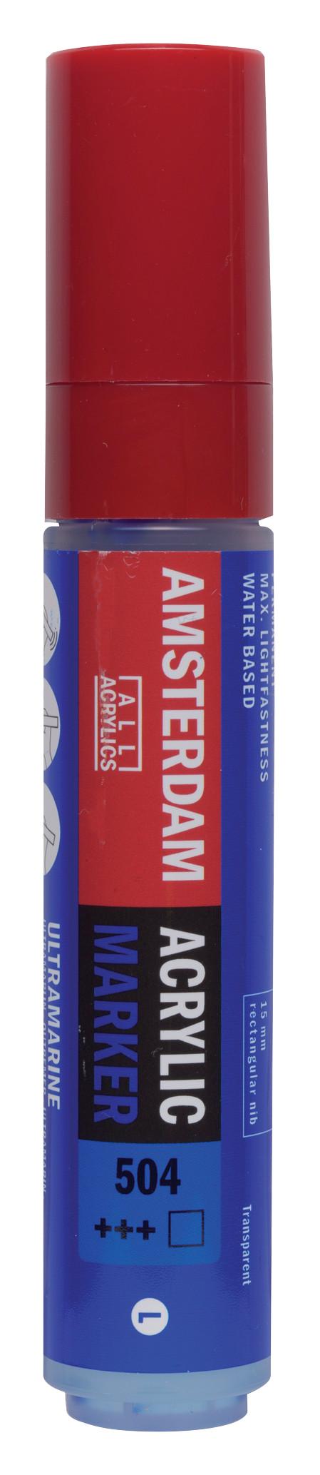 Amsterdam Acrylic Marker 15 mm Ultramarine 504