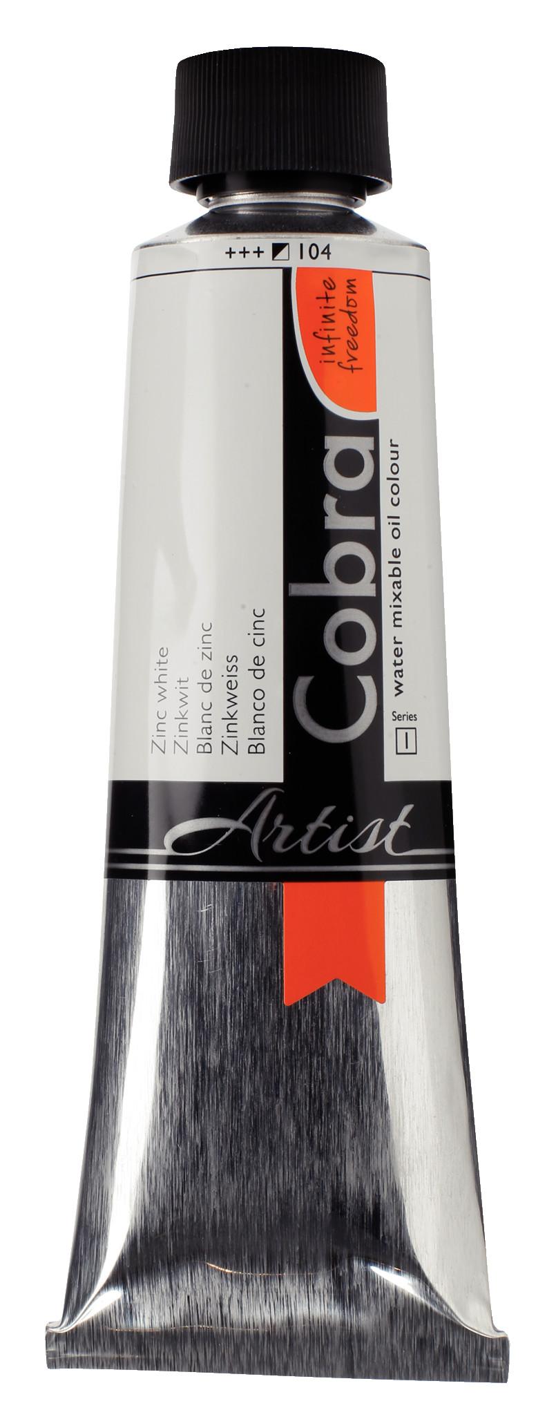 Cobra Artist Water Mixable Oil Colour Tube 150 ml Zinc white 104