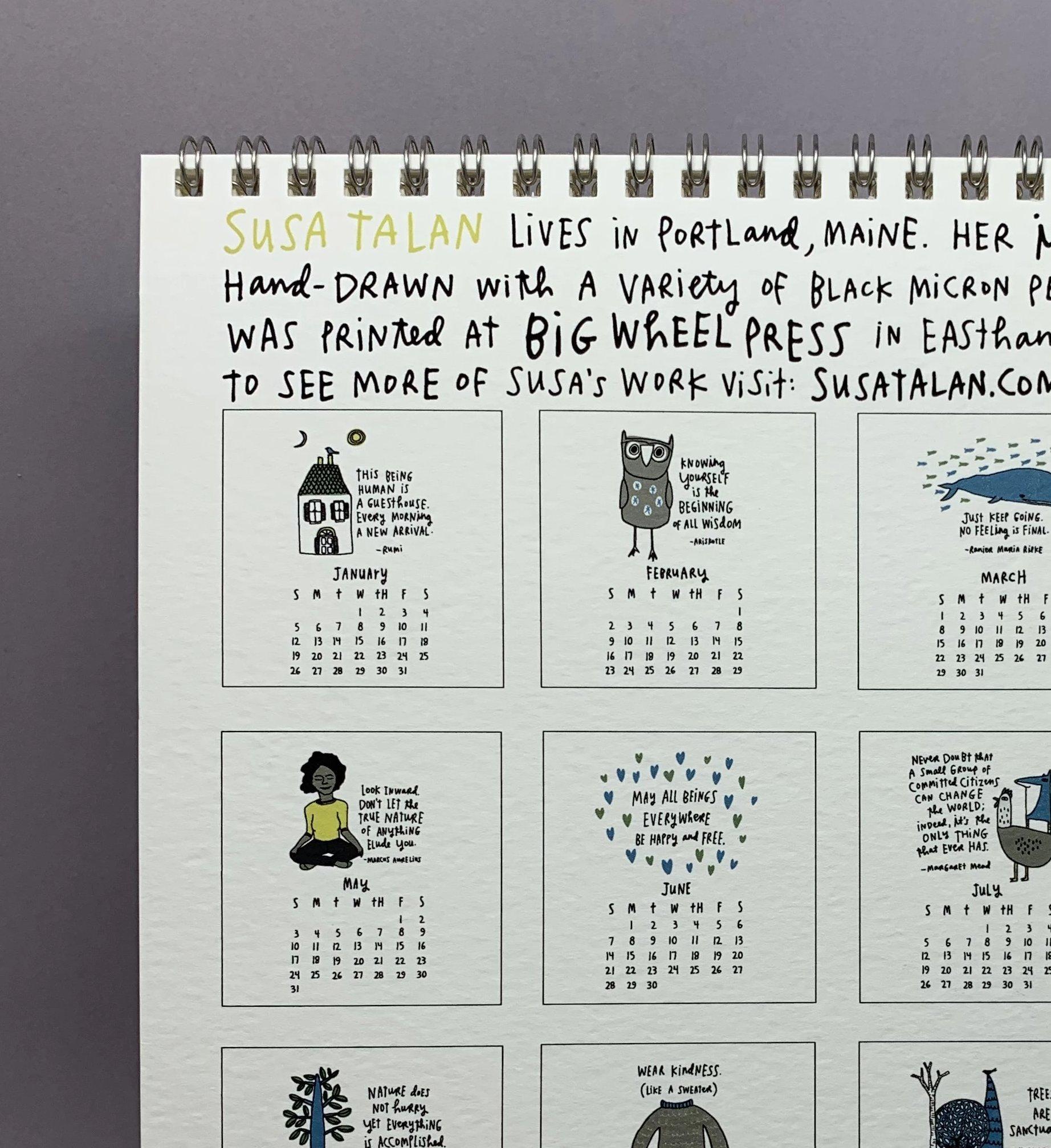 Susa Talan - 2020 Calendar