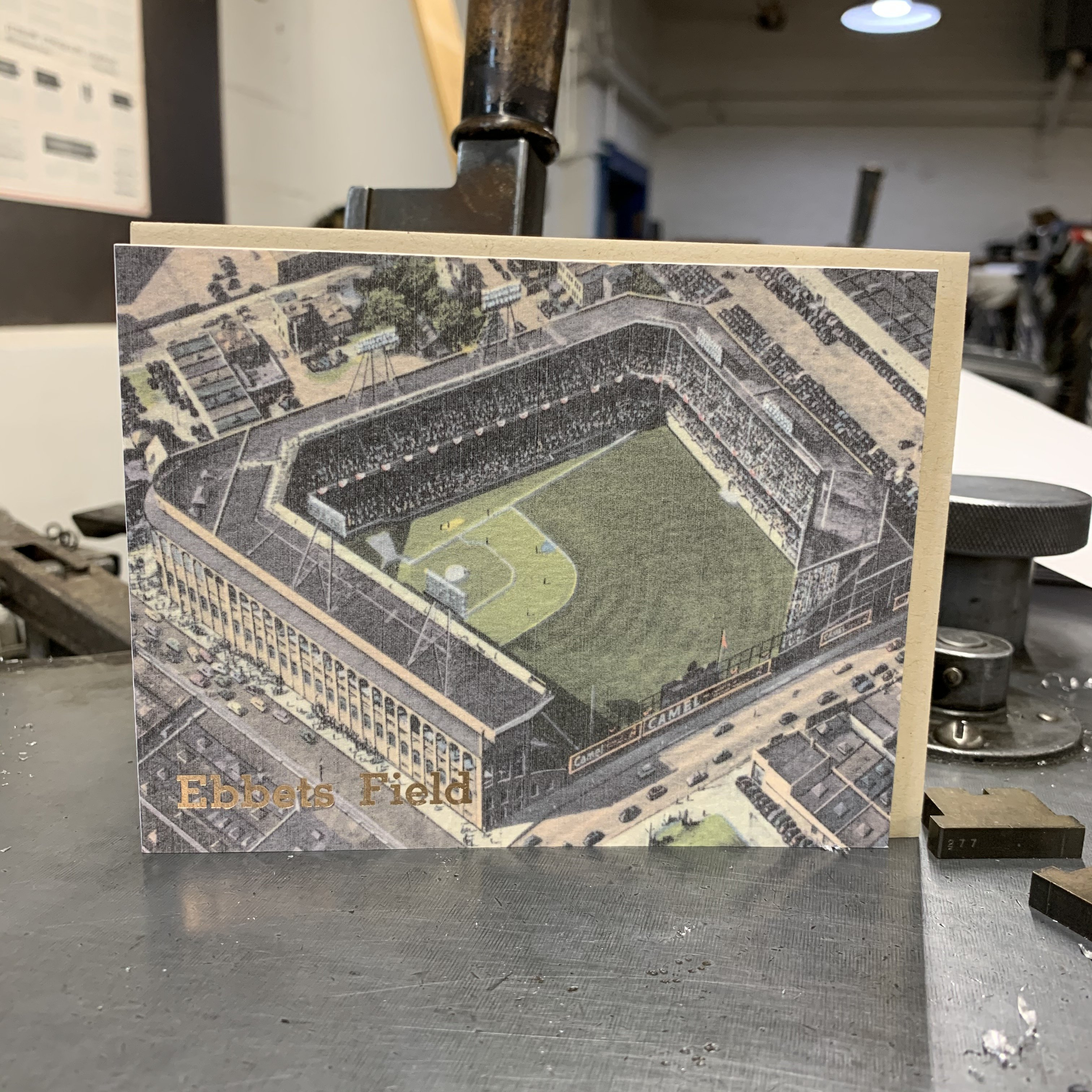 Vintage Ebbets Field Brooklyn Card