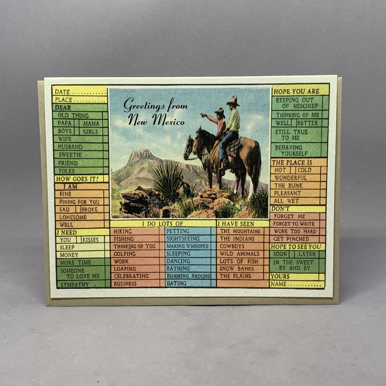 Vintage Western Cowboys Check List Card