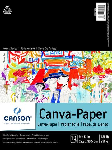 ARTIST SERIES CANVA PAPER PAD 10 SHEETS 9X12