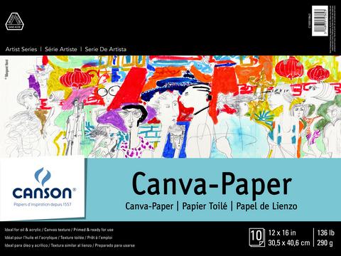 ARTIST SERIES CANVA PAPER PAD 10 SHEETS 12X16