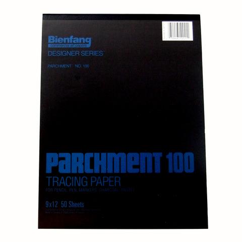 BIENFANG 100 PARCHMENT TRACING PAD 24LB 50SH 9X12