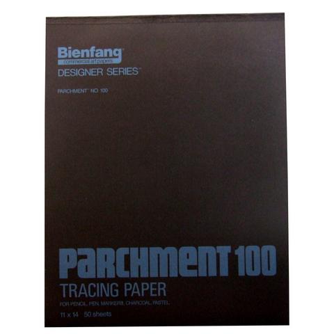 BIENFANG 100 PARCHMENT TRACING PAD 24LB 50SH 11X14