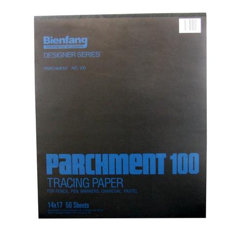 BIENFANG 100 PARCHMENT TRACING PAD 24LB 50SH 14X17