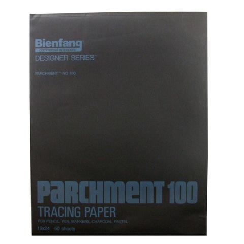 BIENFANG 100 PARCHMENT TRACING PAD 24LB 50SH 19X24
