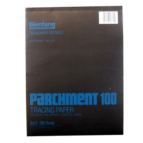 BIENFANG 100 PARCHMENT TRACING PAD 24LB 100SH 9X12