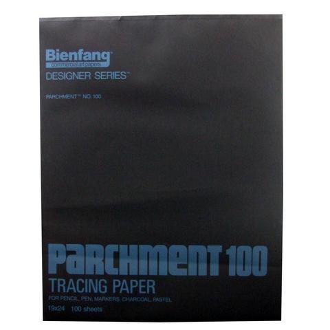 BIENFANG 100 PARCHMENT TRACING PAD 24LB 100SH 19X24