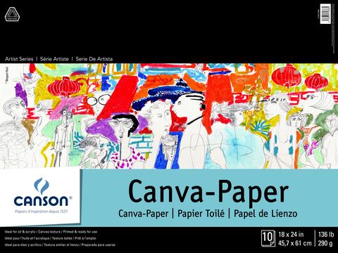 ARTIST SERIES CANVA-PAPER PADS 18 X 24