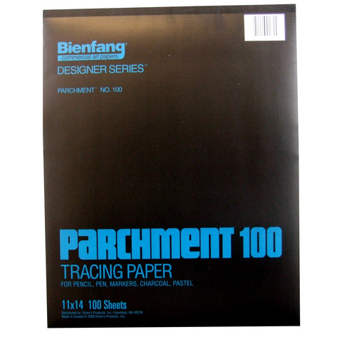 BIENFANG 100 PARCHMENT TRACING PAD 24LB 100SH 11X14