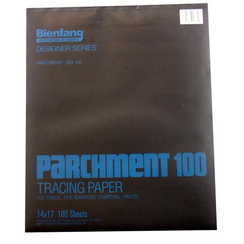 BIENFANG 100 PARCHMENT TRACING PAD 24LB 100SH 14X17