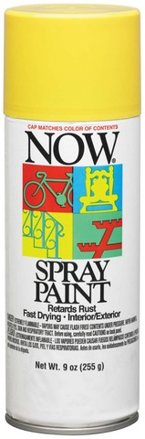 NOW MULTI-PURPOSE SPRAY 9OZ SUNSHINE YELLOW