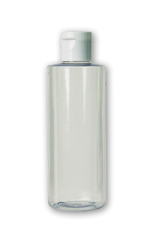 CLEAR PLASTIC BOTTLE W/FLIP CAP 4OZ
