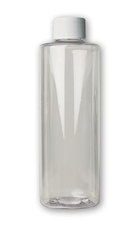 CLEAR PLASTIC BOTTLE W/CAP 8OZ