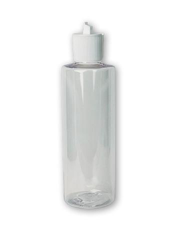 CLEAR PLASTIC BOTTLE W/SPOUT CAP 8OZ