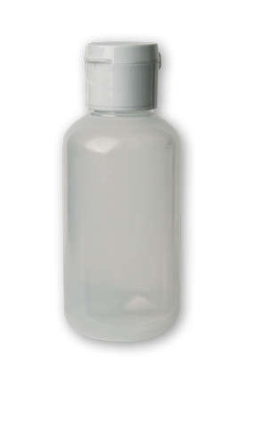 TRANSLUCENT SOFT SQUEEZABLE BOTTLE PLASTIC W/FLIP CAP 2OZ