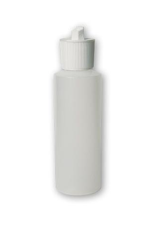 TRANSLUCENT SQUEEZABLE PLASTIC BOTTLE W/SPOUT CAP 4OZ