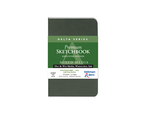 DELTA SOFTCOVER MIXED MEDIA SKETCHBOOK CP 26SH 270GS 3.5X5.5