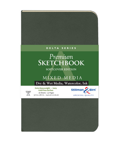 DELTA SOFTCOVER MIXED MEDIA SKETCHBOOK CP 26SH 270GSM5.5X8.5