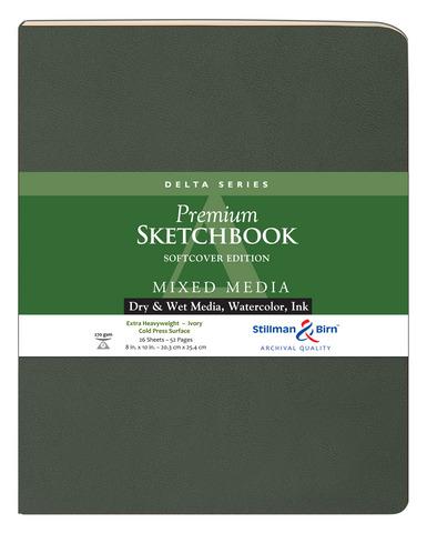 DELTA SOFTCOVER MIXED MEDIA SKETCHBOOK CP 26SH 270GSM 8X10