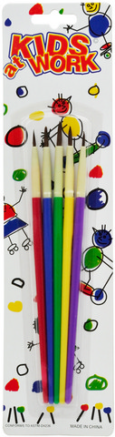 KIDS AT WORK SYNTHETIC BRUSH SET 5PCS CARDED