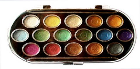 NIJI PEARLESCENT WATERCOLOR 16 COLOR SET
