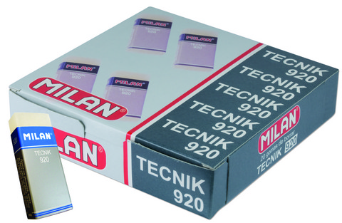 MILAN TECNIK PLASTIC TRANSLUCENT NON ABRASIVE ERASERS (920)