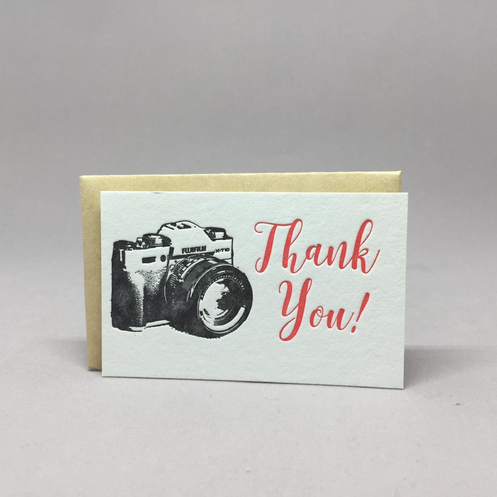 Thank You Camera Mini Gift Card Holder