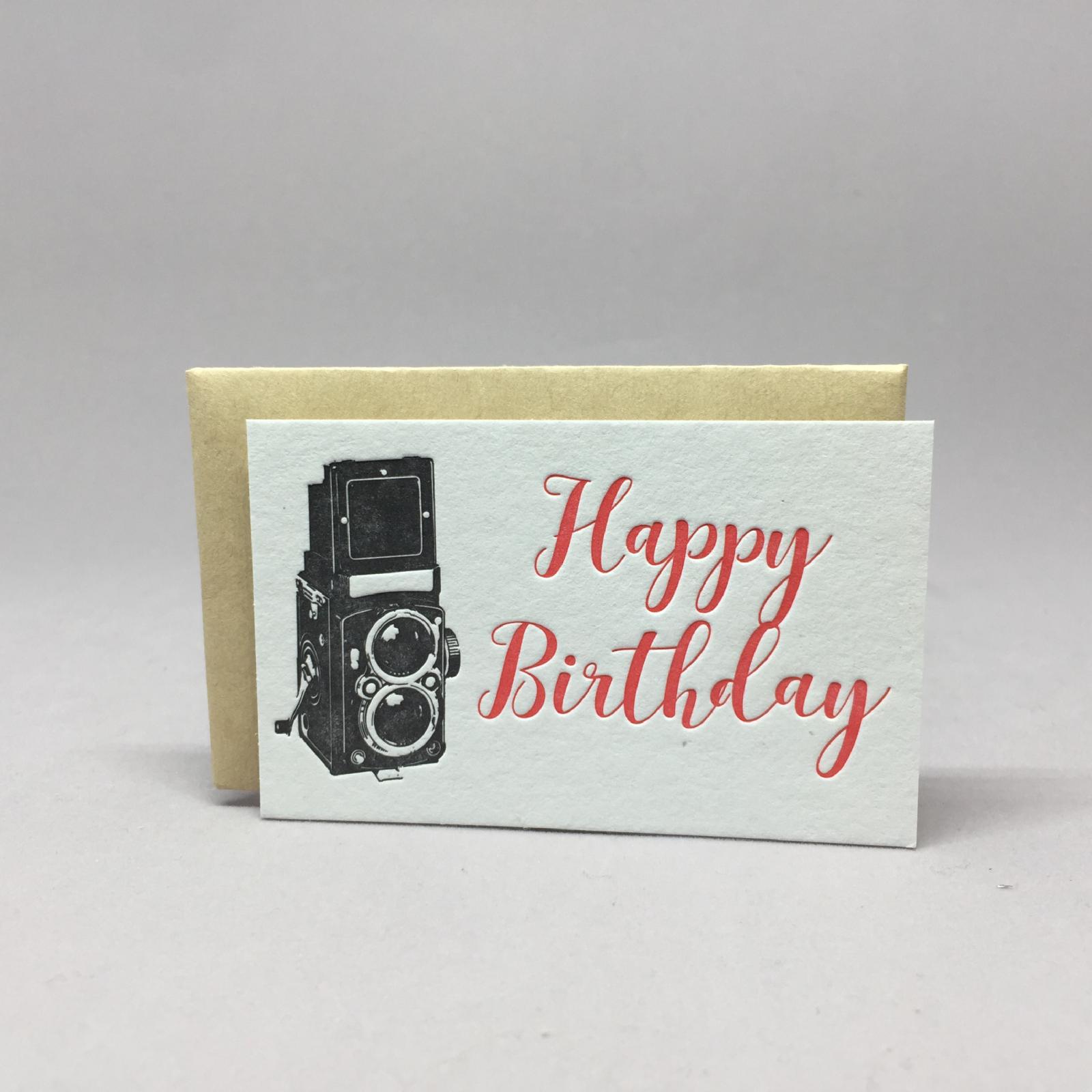 Vintage Birthday Camera Mini