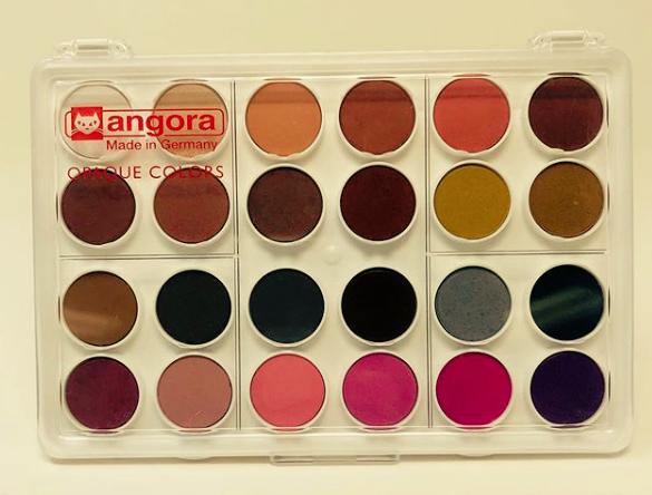 Angora Watercolour 24-Pan Set - Portrait/Skin Tone Set